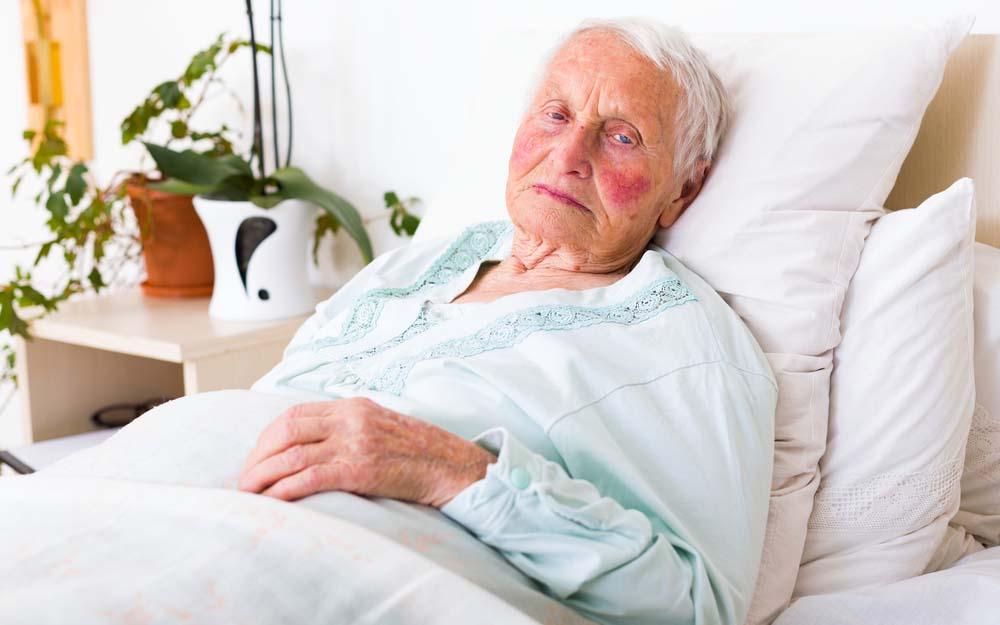 Lady in nursing home